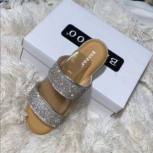 Rhinestone espadrille sandals
